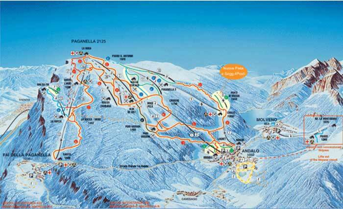 Andalo Piste / Trail Map