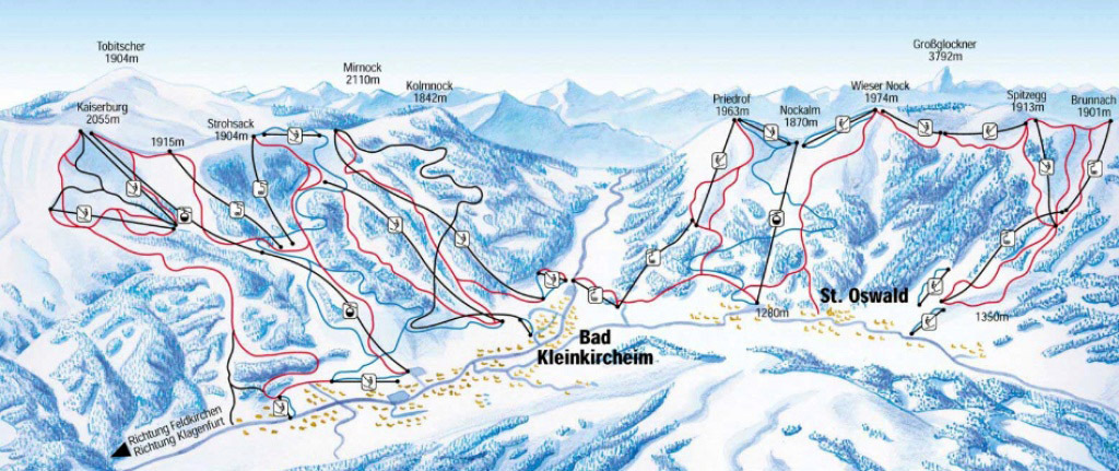 Bad Kleinkirchheim Piste / Trail Map