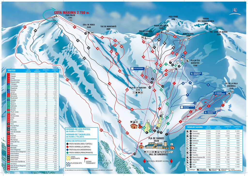 Boi Taull Piste / Trail Map