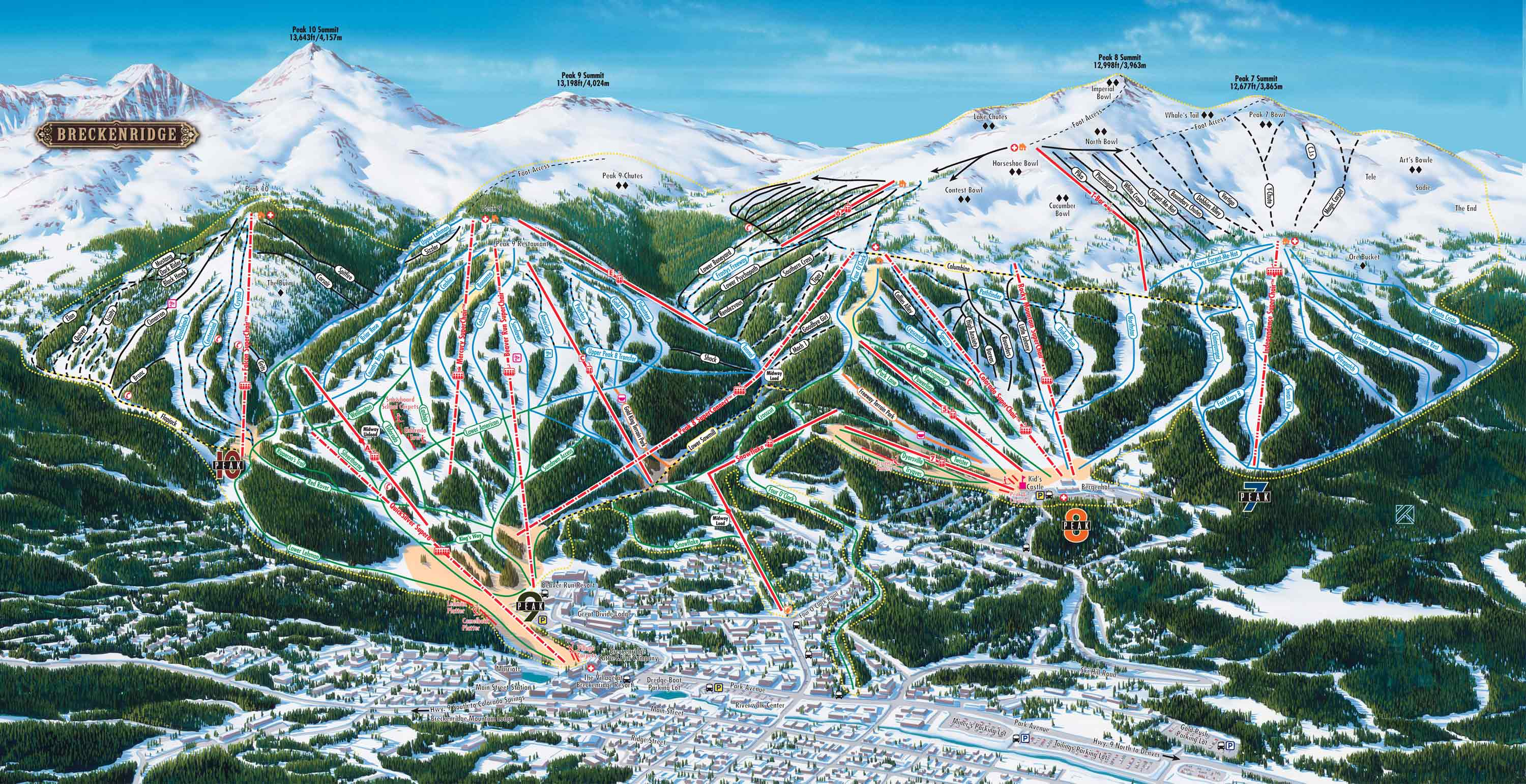 Breckenridge Piste / Trail Map
