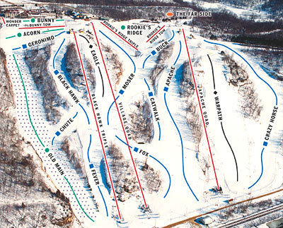 Chestnut Mountain Piste / Trail Map