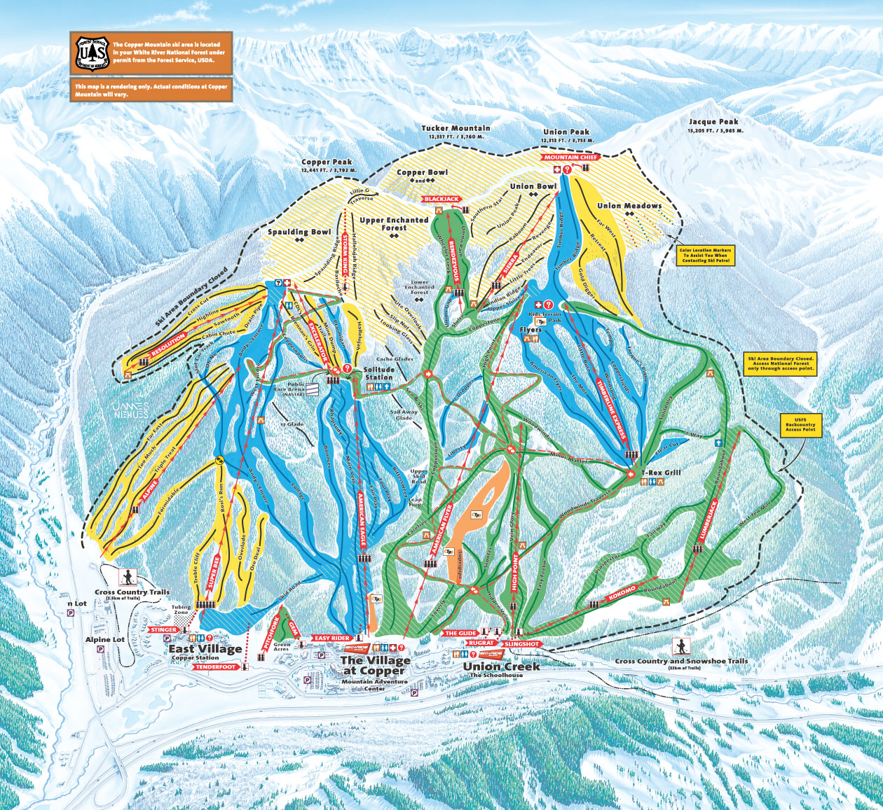 Copper Mountain Piste / Trail Map