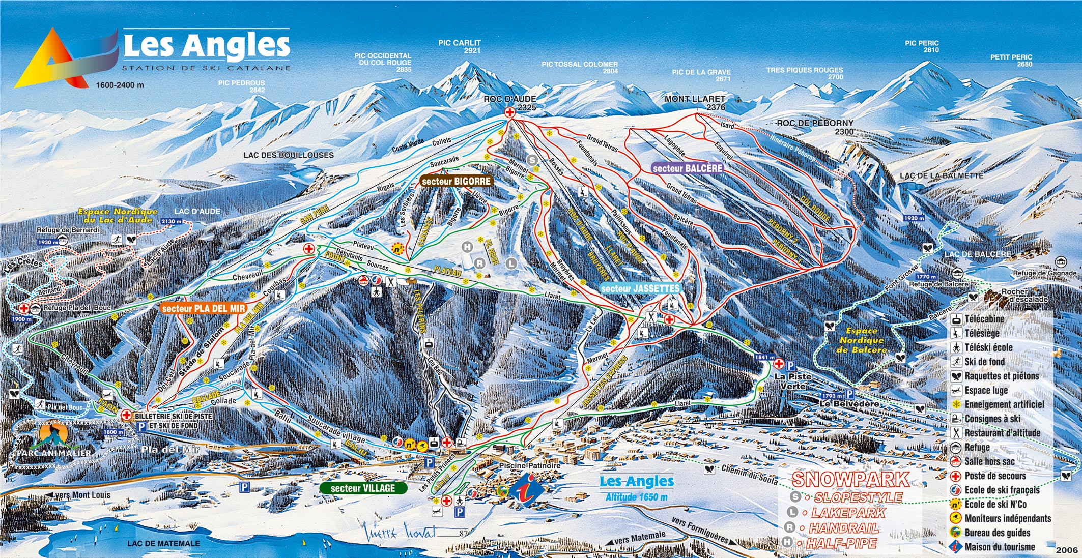 Les Angles Piste / Trail Map