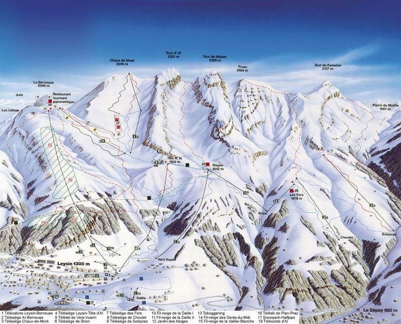 Leysin Piste / Trail Map