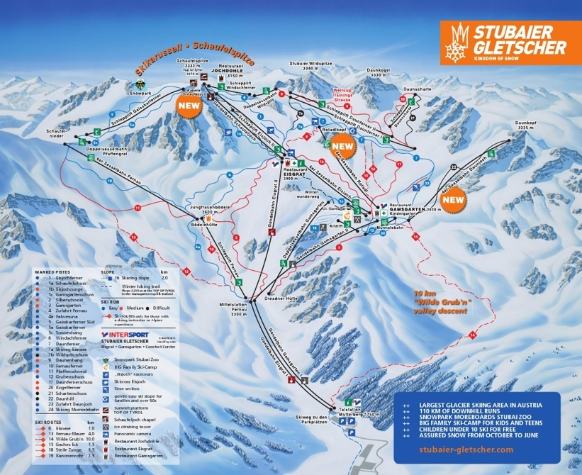 Neustift Piste / Trail Map