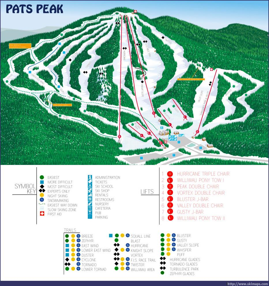 Pats Peak Piste / Trail Map
