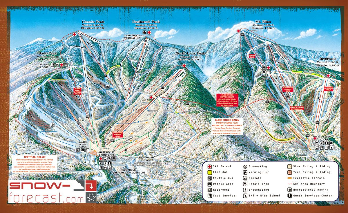 Sugarbush Piste / Trail Map