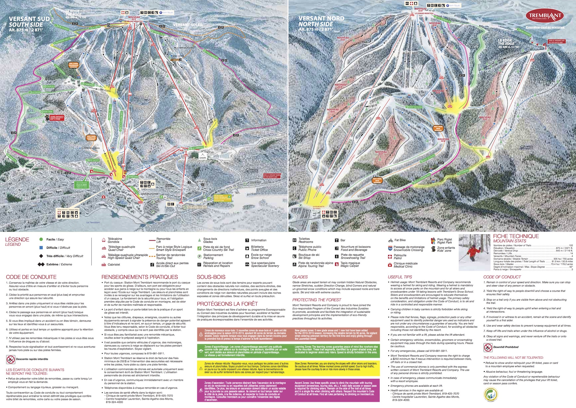 Mont Tremblant Piste / Trail Map