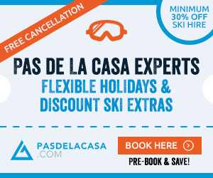 Ski Extras & Airport Transfers for Pas de la Casa