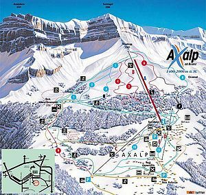 Brienz - Axalp Piste / Trail Map
