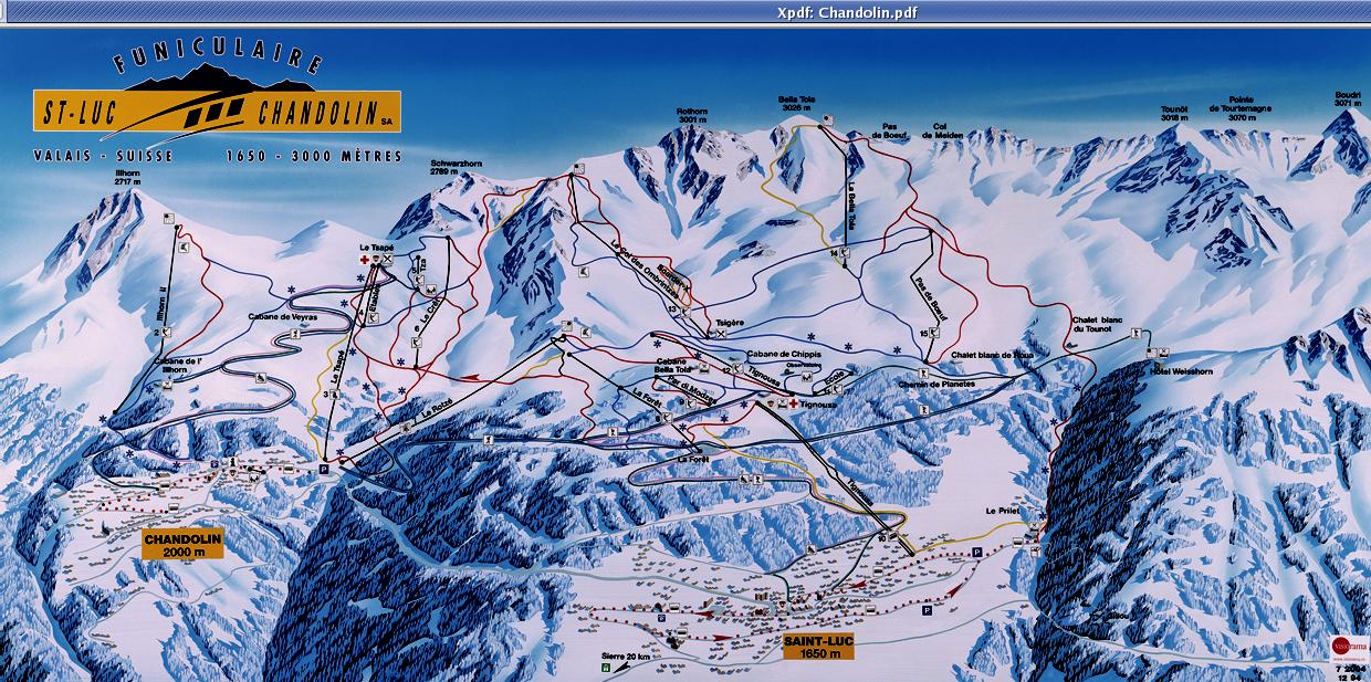 Chandolin Piste / Trail Map