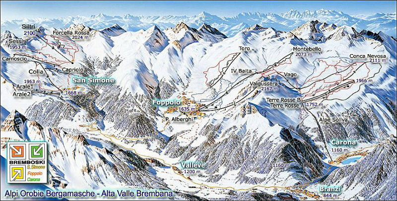 Foppolo Piste / Trail Map