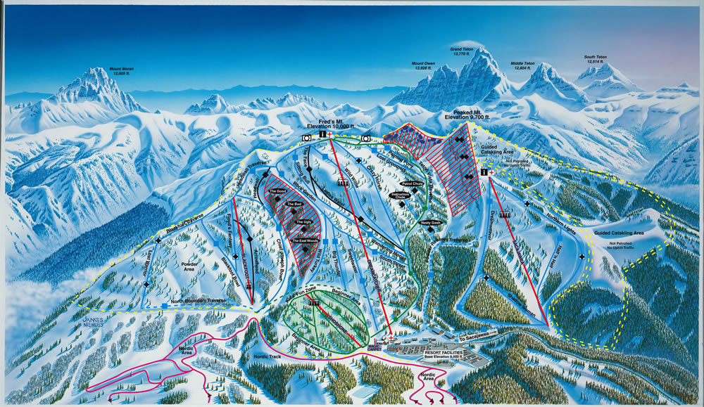 Grand Targhee Piste / Trail Map
