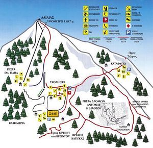 Lailias Piste / Trail Map