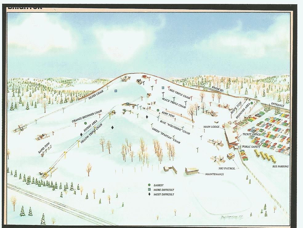 Mount Brighton Piste / Trail Map