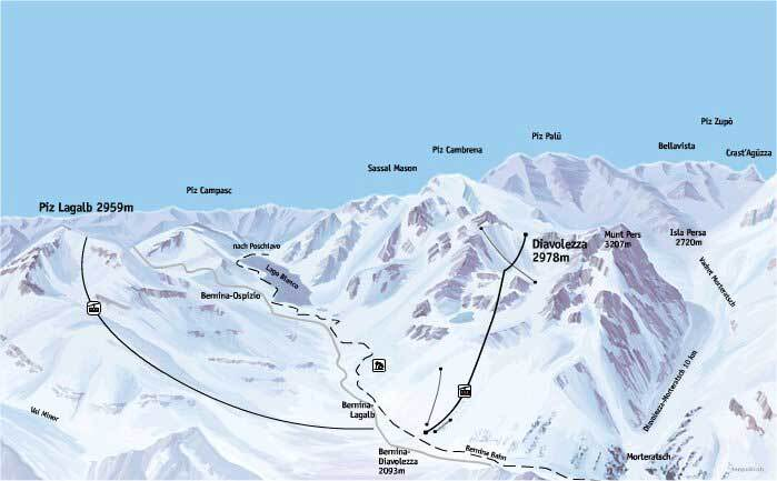 Pontresina Piste / Trail Map
