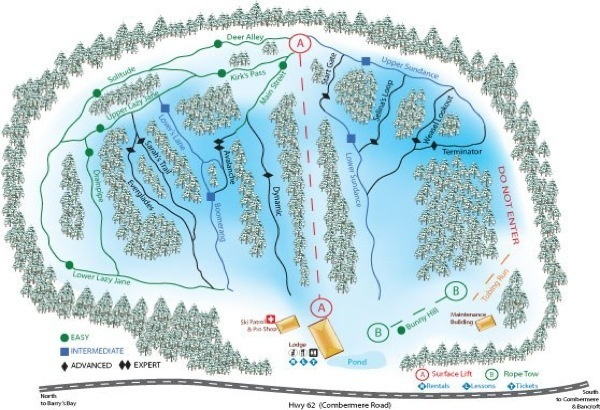 Radcliffe Piste / Trail Map