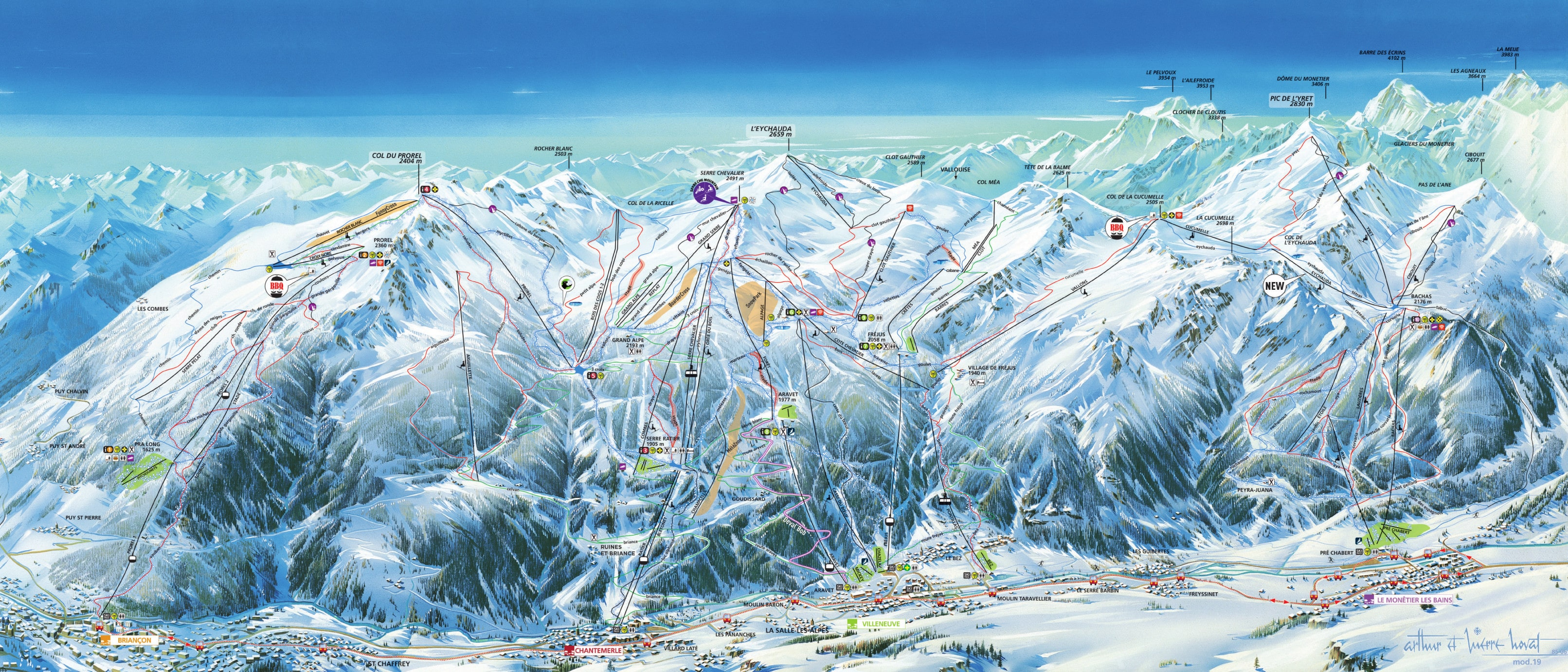 Serre Chevalier Piste / Trail Map