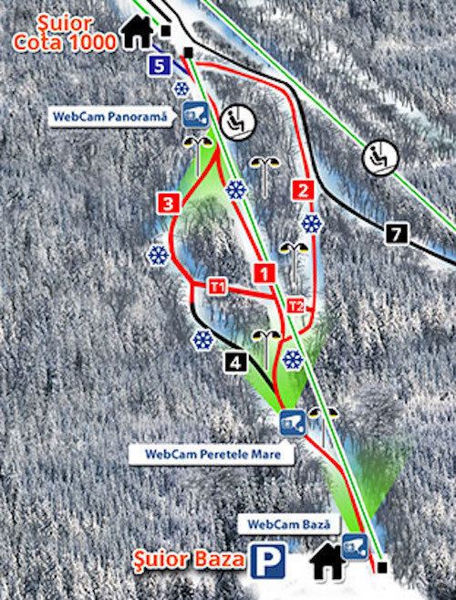 Suior Piste / Trail Map