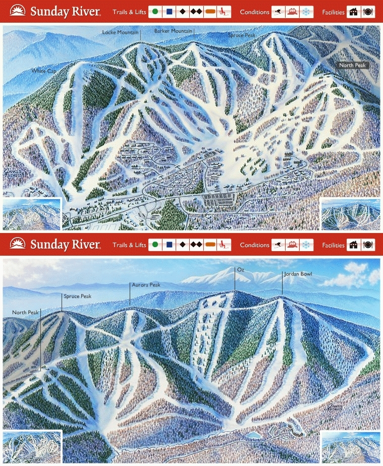 Sunday River Piste / Trail Map