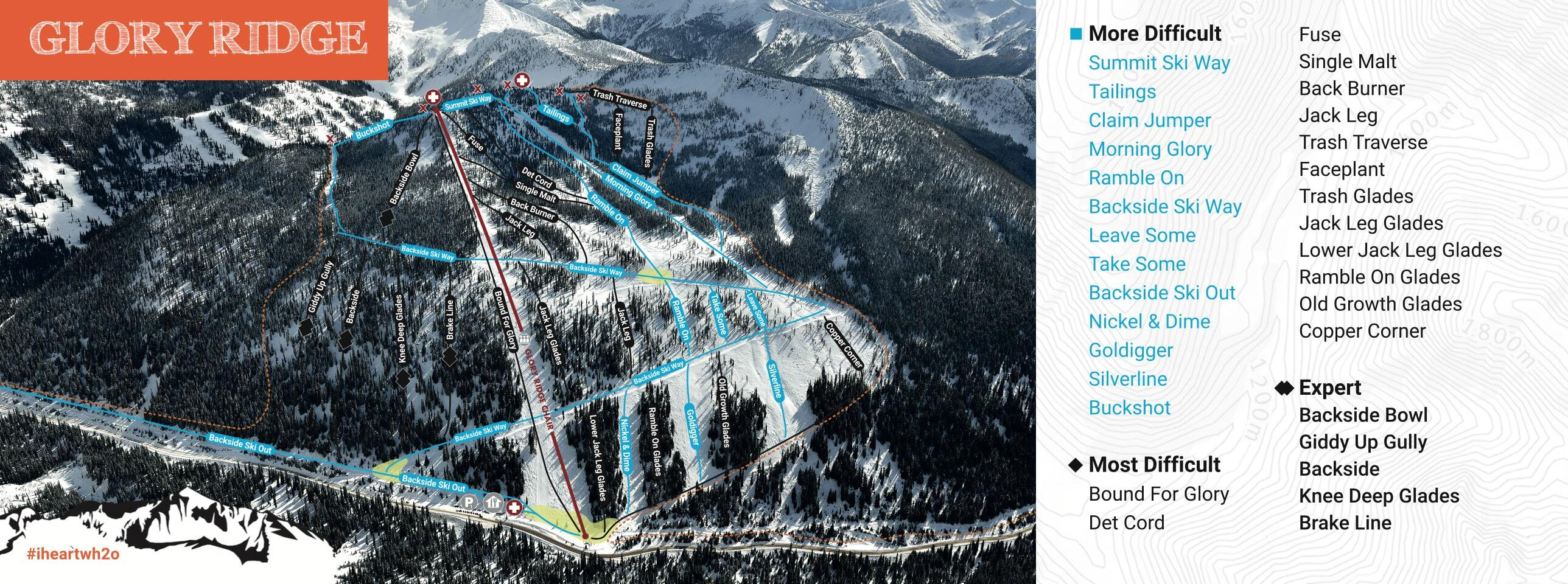 Whitewater Piste / Trail Map