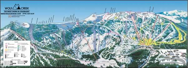 Wolf Creek Ski Area Piste / Trail Map